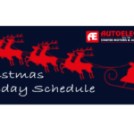 Autoelectro Christmas Schedule