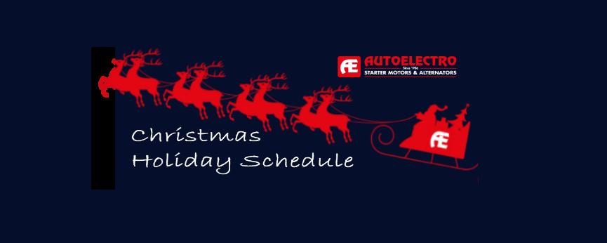Autoelectro Christmas Schedule